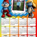 Calendario 2012 con papá Pitufo y Pitufina