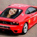 Hacer fotomontaje gratis en un Ferrari