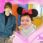 Marco para fotos junto a Justin Bieber