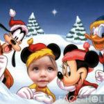 Fotomontaje de navidad en Disney