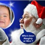 Montaje en una esfera mágica de Papá Noel