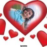 Marco para fotos de corazones