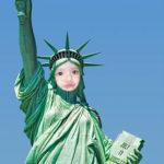 Fotomontaje gratis en la estatua de la Libertad