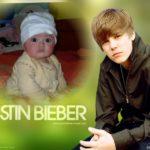Fotomontaje junto al cantante Justin Bieber