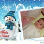 Marco para fotos de navidad y con muñeco de nieve