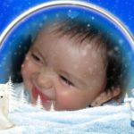 Fotomontaje representando a la blanca navidad