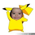 """Montaje en el cuerpo de """"PiKachu""""de Pokémon"""