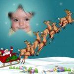 Pon tu foto en la estrella de Belén que es guía de los renos navideños