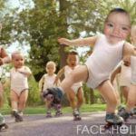 Hacer montaje infantil con unos niños danzando