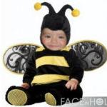 Montaje disfraz de una abeja bebe