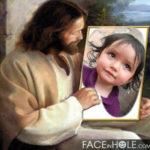 Fotomontaje gratis con Jesús mirandote