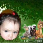 Marcos infantiles para fotos con Bambi