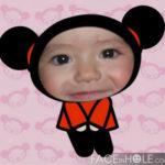 Inserta la foto de tu niña en el cuerpo de Pucca
