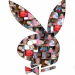 Collage en un conejito de playboy
