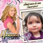 Fotomontaje gratis con Hannah Montana