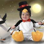 Fotomontaje gratis en disfraz de pingüino para niños