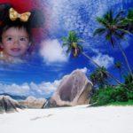 Crea un collage con tus fotos en una isla paradisíaca