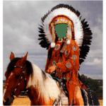 Montaje en un Indio Americano (Apache)