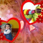 Marco para dos fotos de corazones