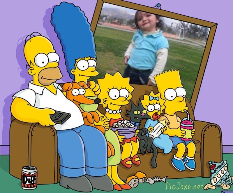 montaje con los Simpson