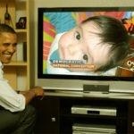 Hacer fotomontaje en el televisor de Obama