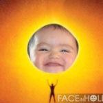 Fotomontaje con el astro sol