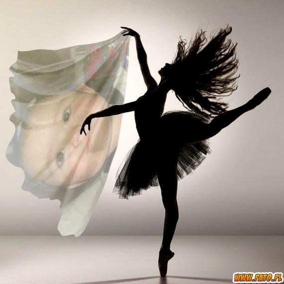 Fotomontaje con bailarina de ballet