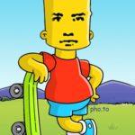 Crear fotomontaje gratis con Bart Simpson