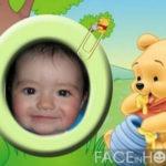 Fotomontajes divertidos para niños con Winnie Pooh