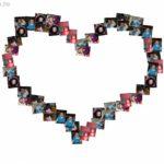 Crea un collage gratis en la forma de un corazón