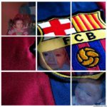 Photo collage gratis en el escudo del F.C. Barcelona