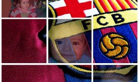 collage escudo del barca