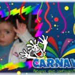 Marco para fotos con motivo de carnaval
