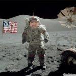 Fotomontaje online de un astronauta en la luna