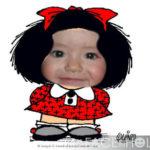 Modificar fotos gratis en el rostro de Mafalda