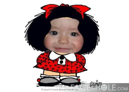 montaje con  Mafalda