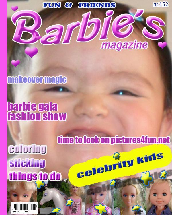 montaje en revista barbie