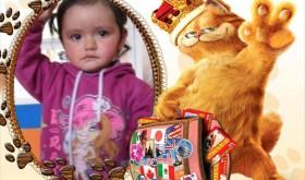 Fotomontaje infantil con Garfield