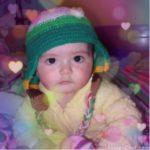 Fotomontaje de fotos con corazones flotantes