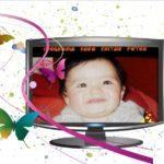 Fotomontaje online en un televisor LCD