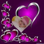 Marco para fotos online de corazones