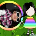 Marco para fotos infantil con una niña