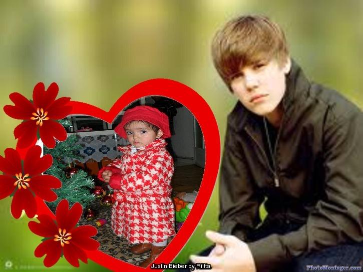 montaje con Justin Bieber