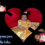 Crea un collage con tus fotos en forma de corazón