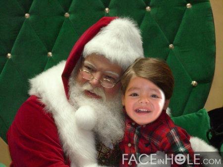 fotomontajes de navidad con papa noel