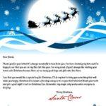 Carta de santa claus por fiestas de navidad
