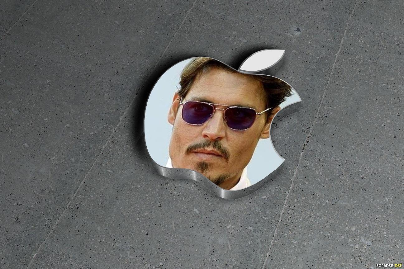Marco para foto en logo de apple
