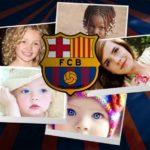Fotomontaje con el escudo del fútbol club barcelona