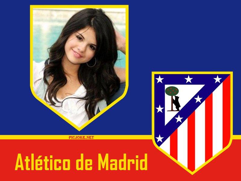 Fotomontaje con el logo del atletico de madrid