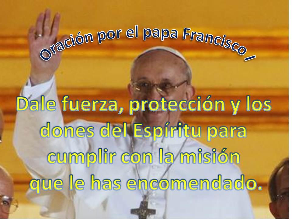 Tarjeta con oración a Francisco I